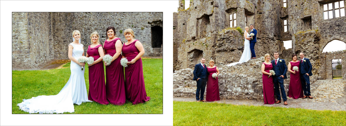 Fun Wedding party Roscommon Castle Wedding Photos