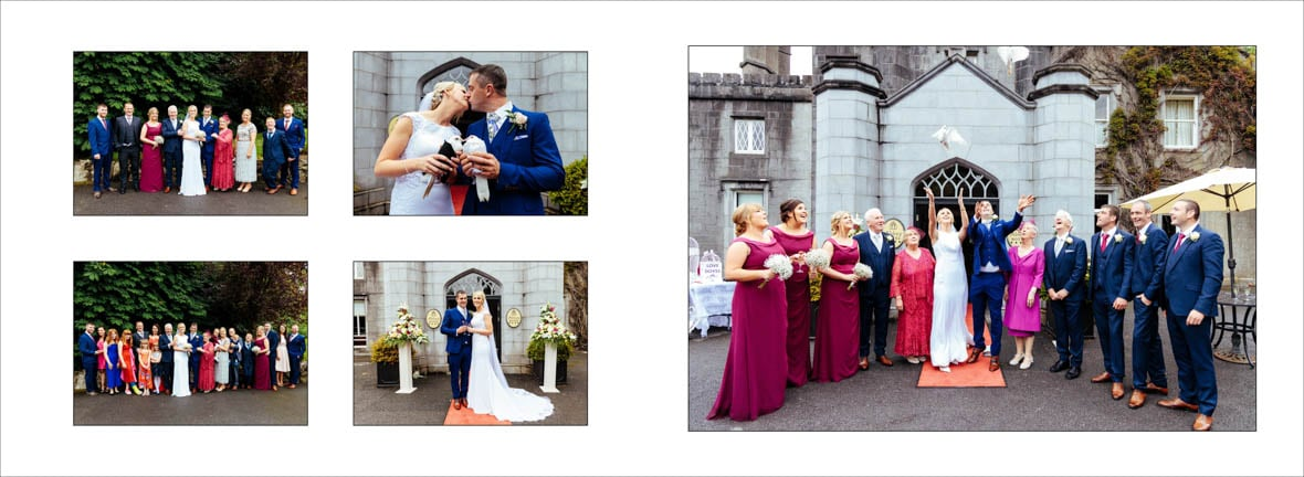 Arriving at the Abbey Hotel Wedding in Roscommon