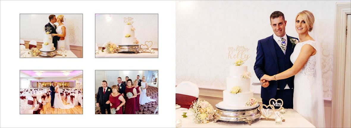 Beautiful cake in the Abbey Hotel Wedding in Roscommon
