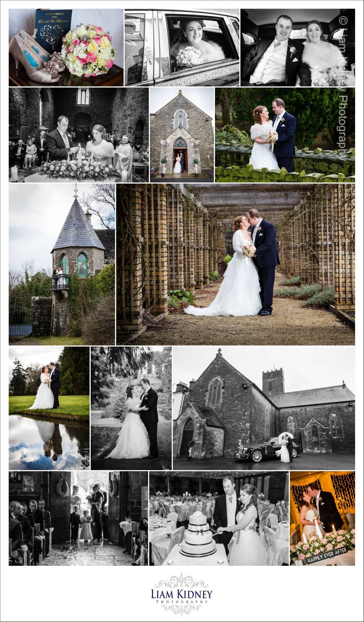 Wedding of Antoinette and Rob, Multyfarnham Church, Lough Rynn Castle Athlone | Westmeath photographer