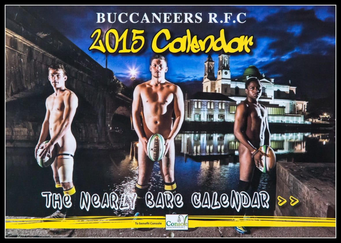 """Buccaneers RFC """"Nearly Bare"""" Calendar in Aid of Console"""