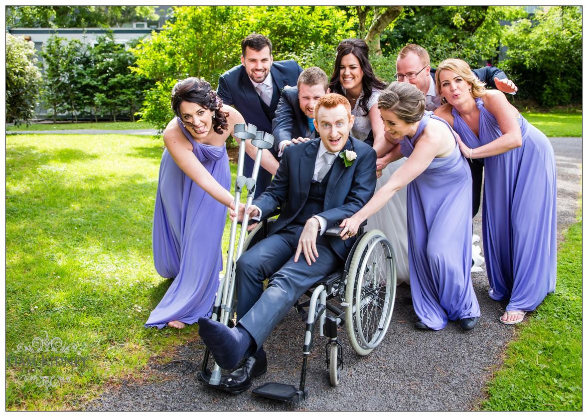 Sport injury didn't ruin the fun in this Galway wedding