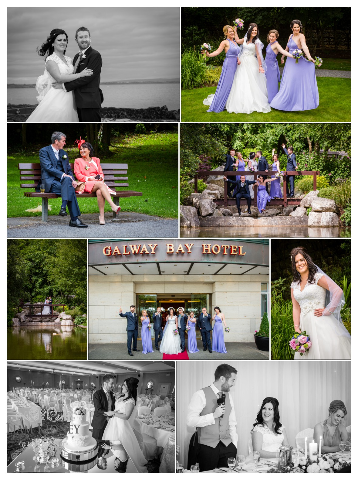 Elaine and John in the Galway Bay Hotel Wedding for their wedding reception