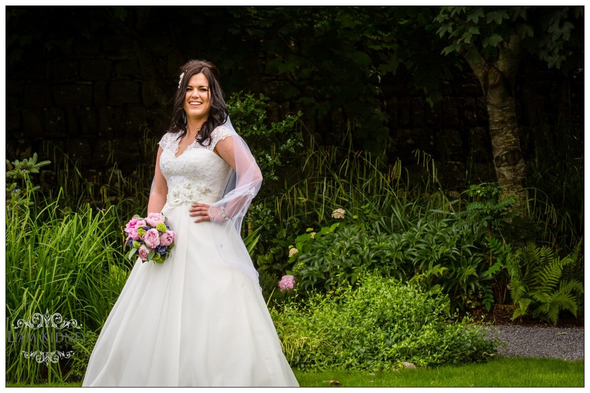 Beautiful Galway Bride Elaine in Salthill park