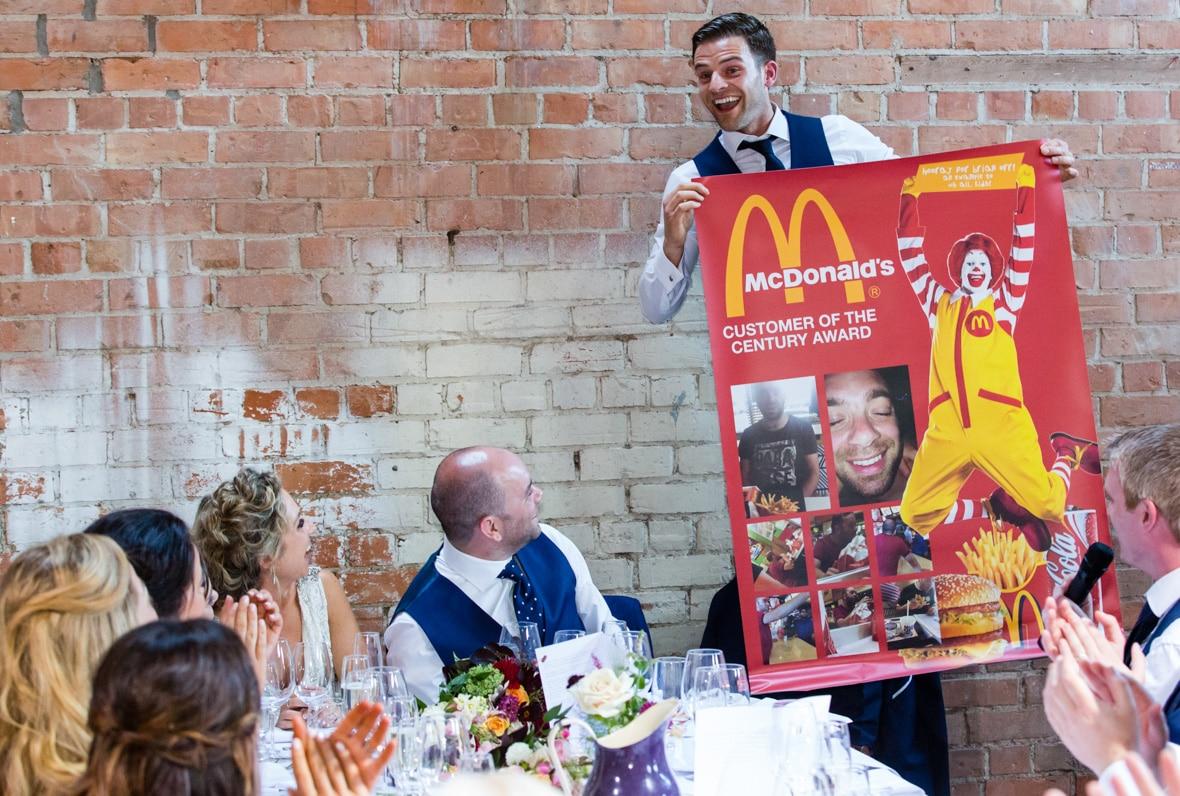 Wedding Speeches: The Best Man Made a poster as part of his Best Man Speech