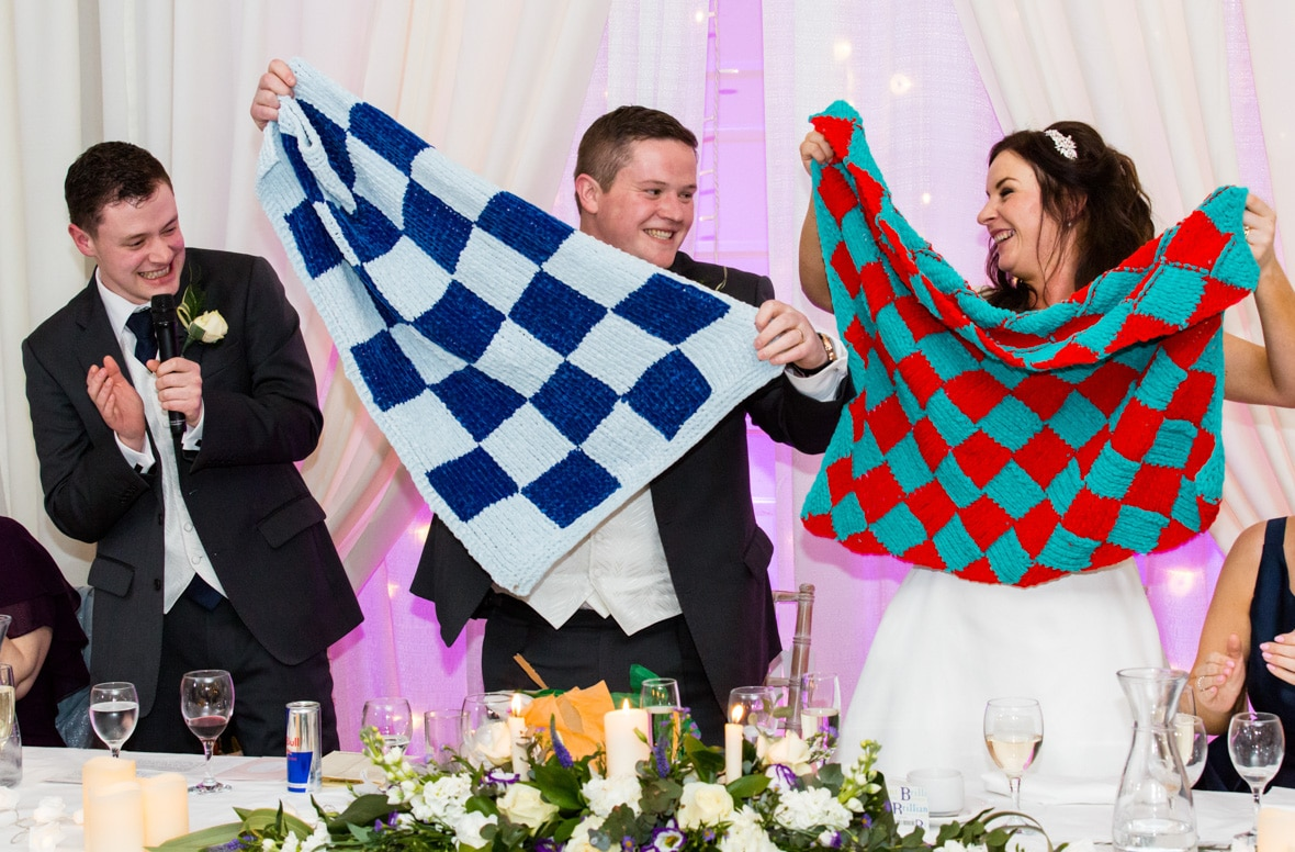 Wedding Speeches: Best Man gave Dublin and Mayo flags at the wedding