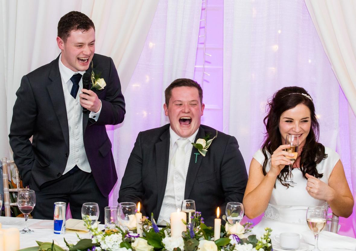 Best Man Speech entertained at the wedding