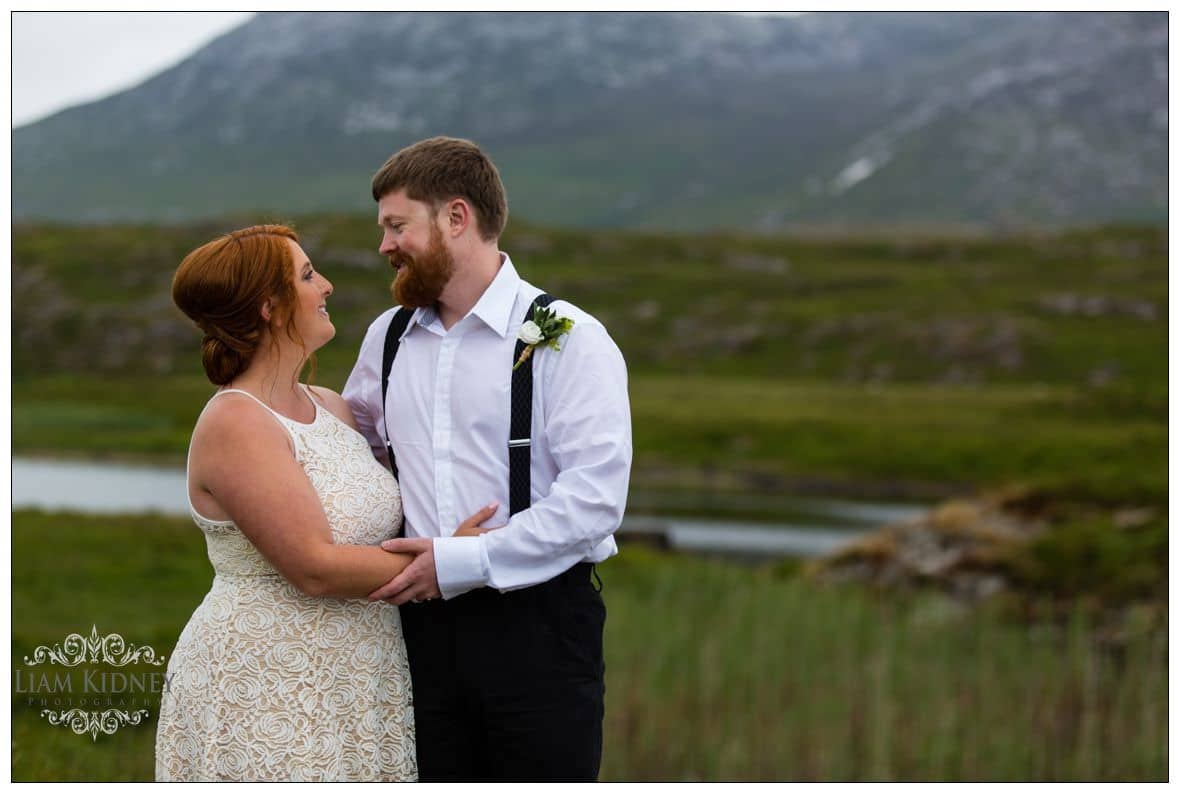 Melanie and Greg are totally relaxed after their Irish Destination wedding in Connemara
