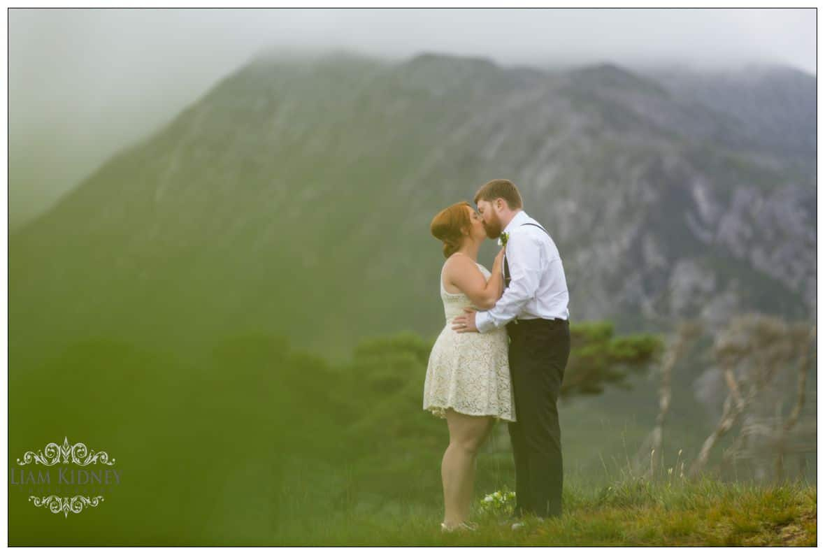 Melanie and Greg embrace after their Irish Destination Wedding in Connemara Co. Galway