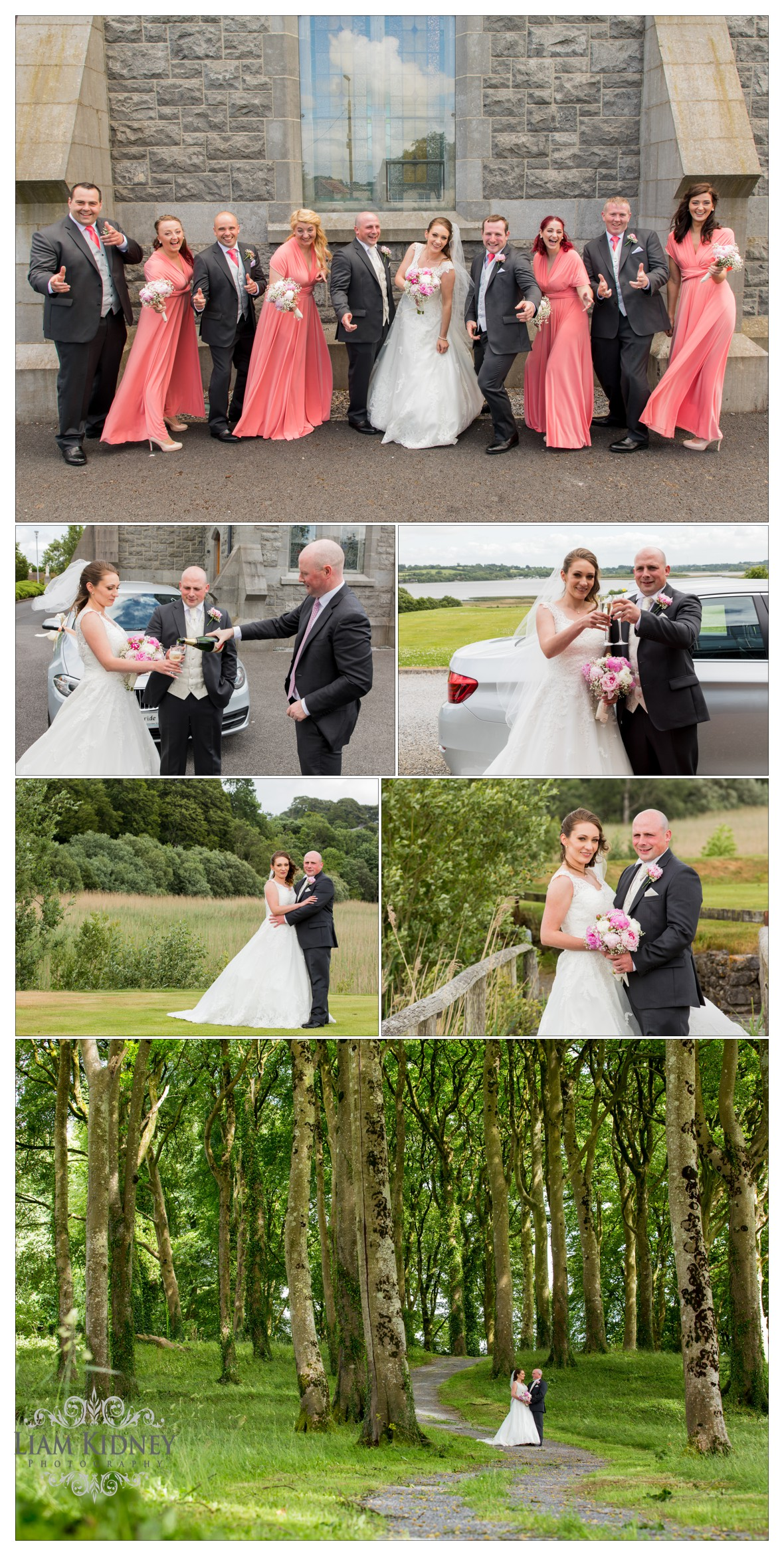 Kasia And Stan enjoying their wedding at Glasson Country House Hotel, Athlone, Co. Westmeath