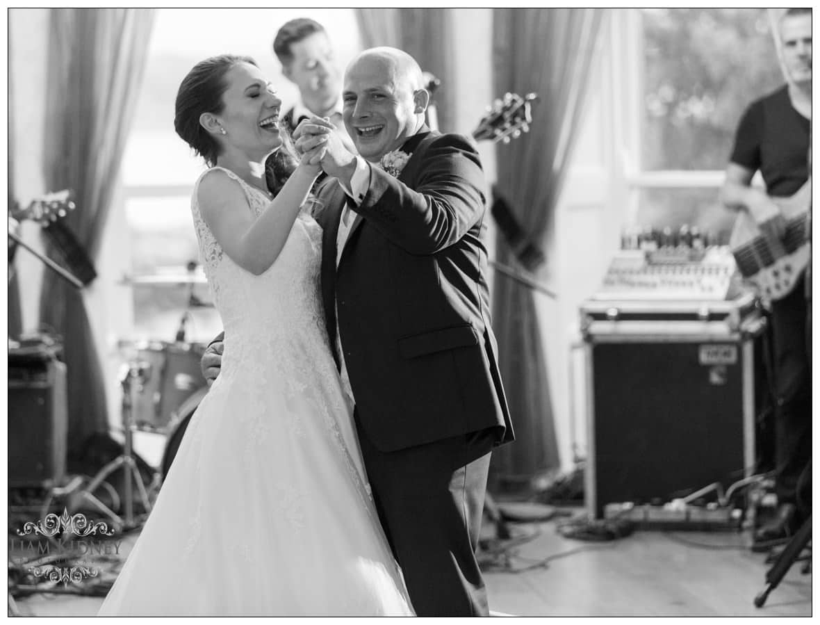 Kasia And Stan During First Dance at Glasson Country House Hotel Wedding, Athlone, Co. Westmeath