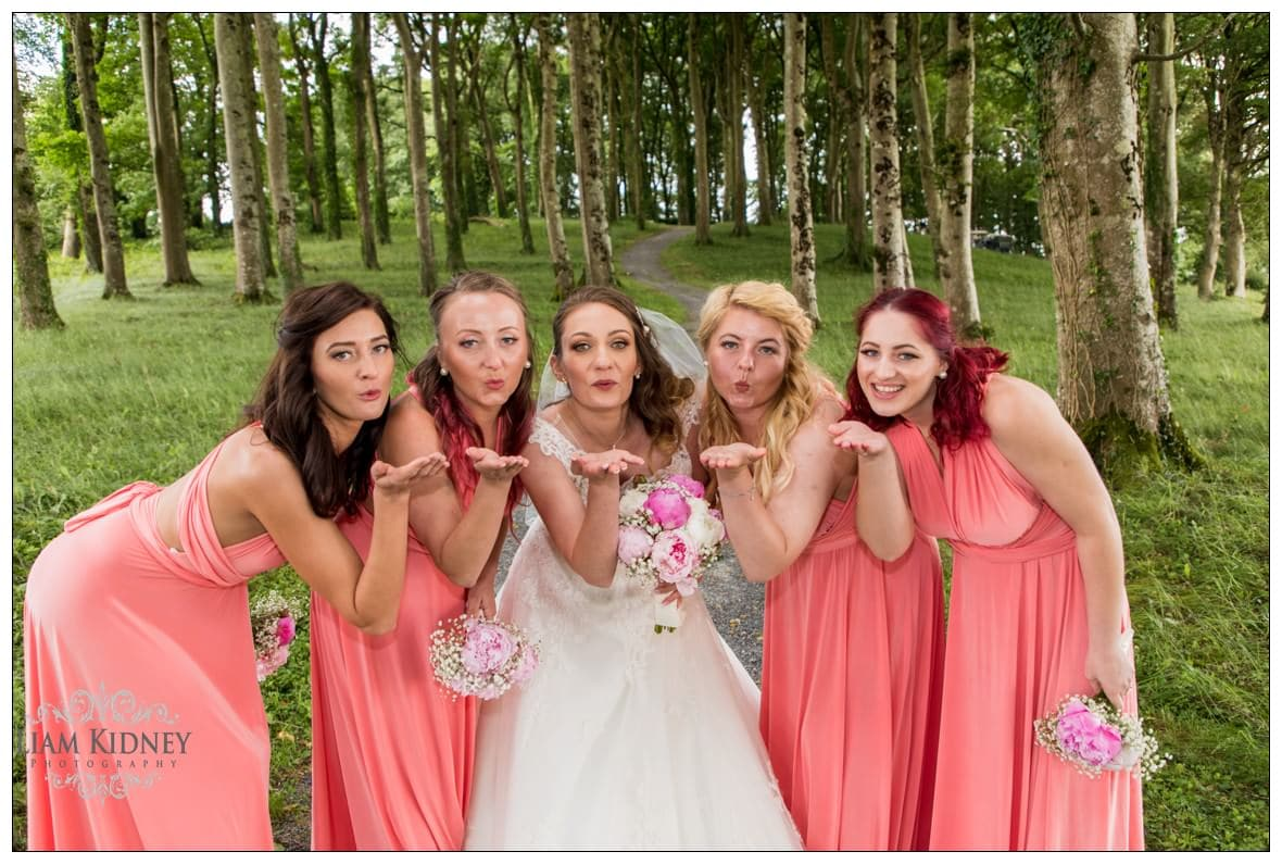 Beautiful Bridesmaids at Glasson Country House Hotel Wedding, Athlone, Co. Westmeath