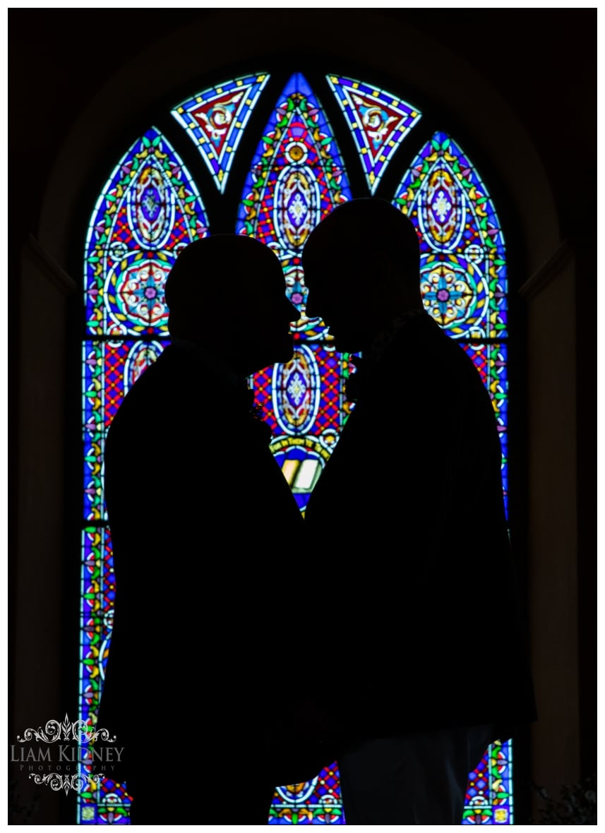 Beautiful Silhouette of Gay Couple