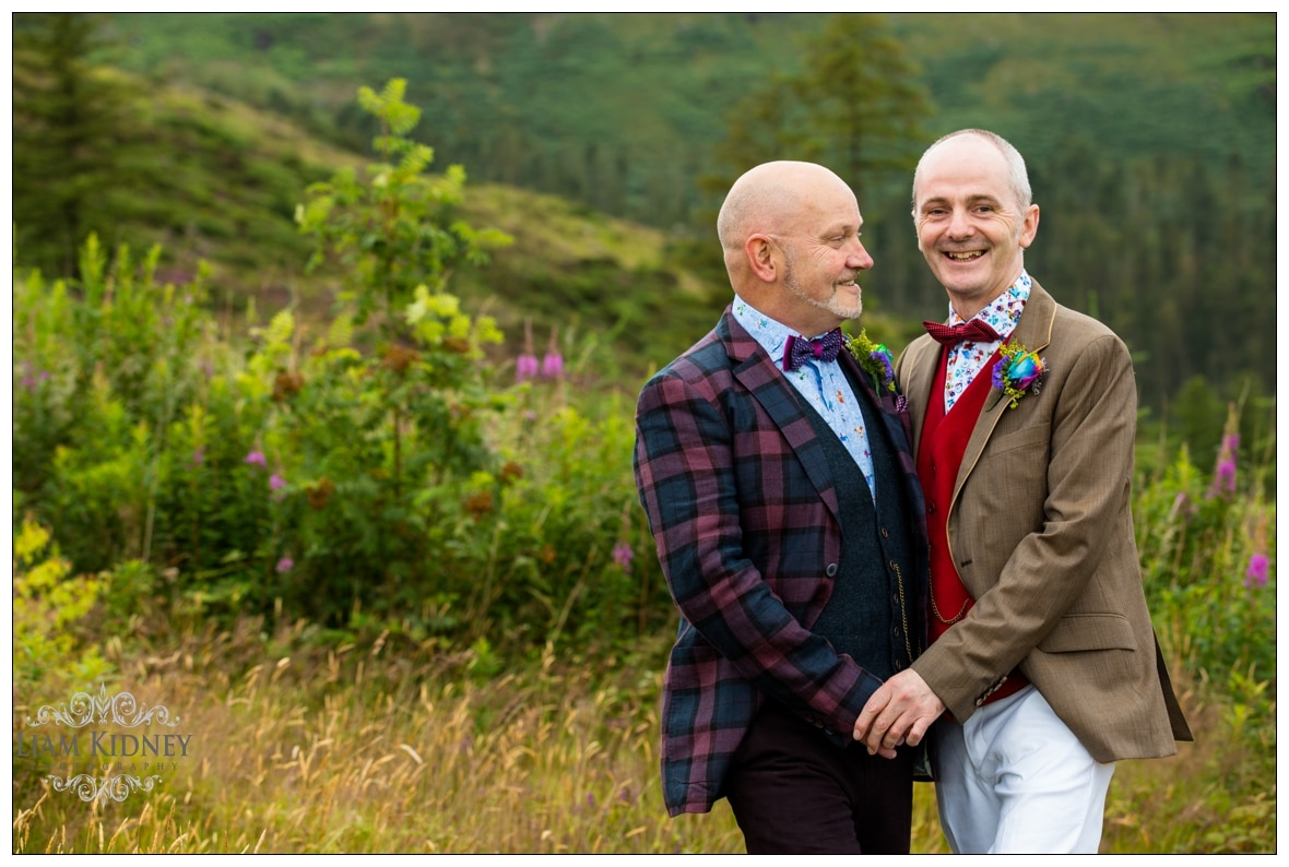 Same sex wedding of Jim and Paul Photographed in Ireland