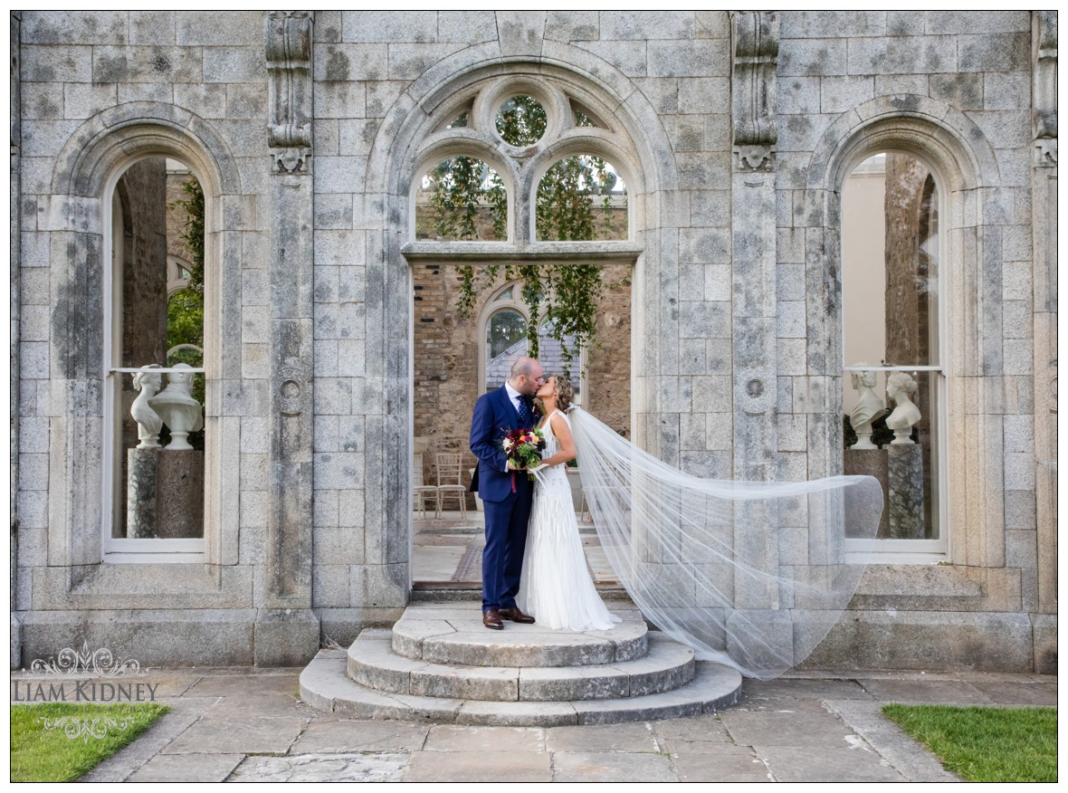 Beautiful Bride and Groom in at Killruddery House & Gardens in Bray for their wedding