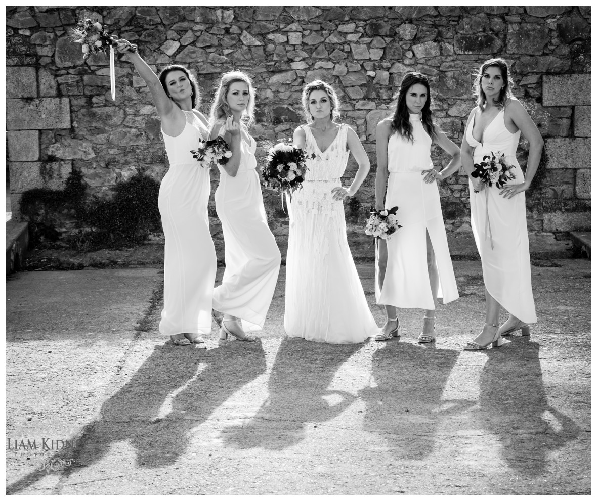 Beautiful Bride and Bridesmaids in Killruddery House Wedding