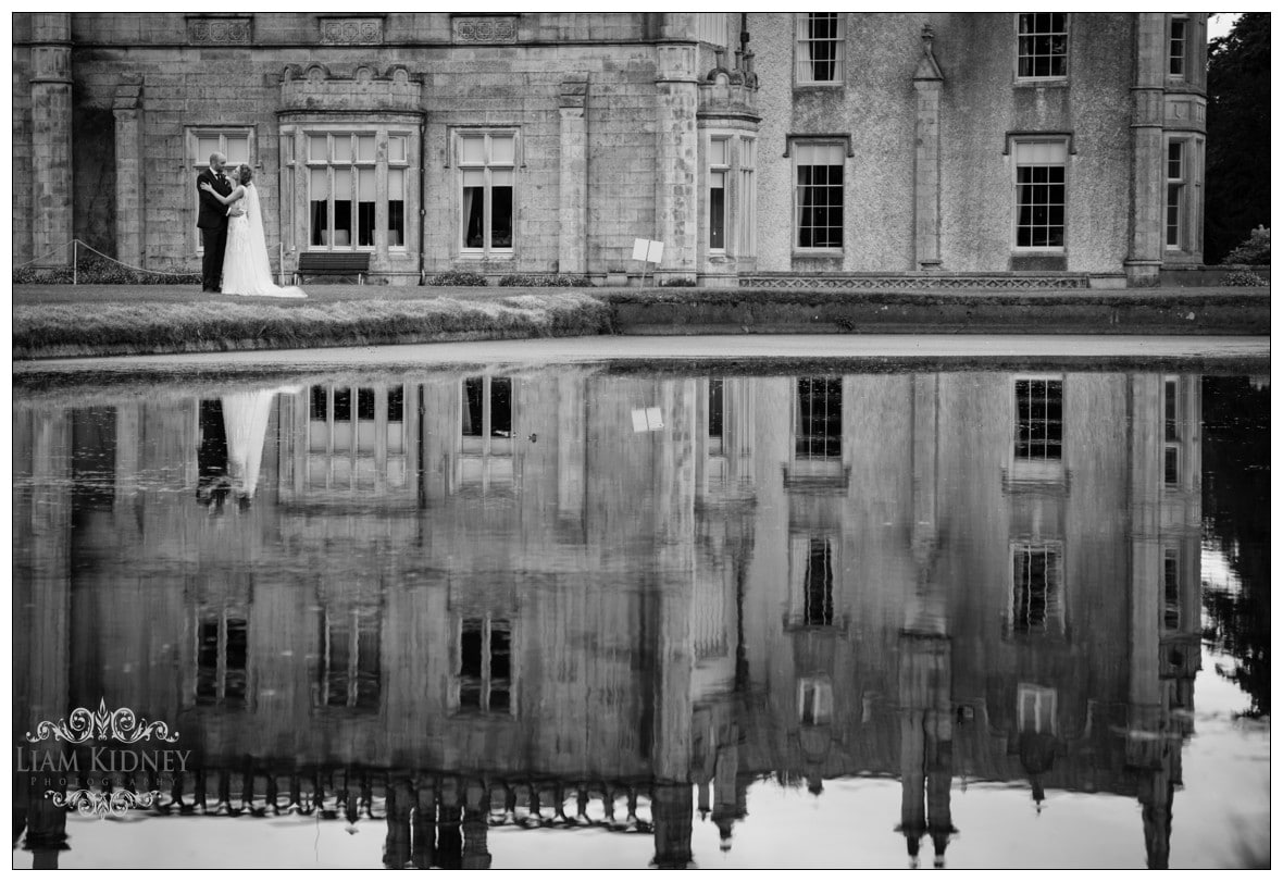 Stunning reflections at the wedding in Killruddery House & Gardens in Bray