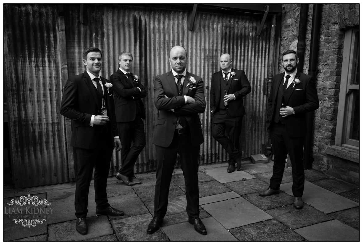 Groom and Groomsmen in Killruddery House Wedding