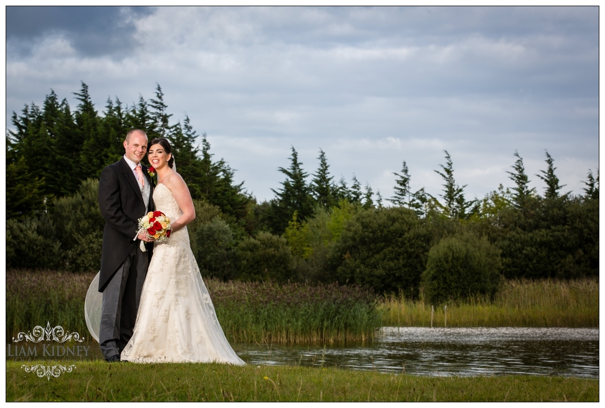 Lisa and James in Hodson Bay Athlone for their lakeside wedding