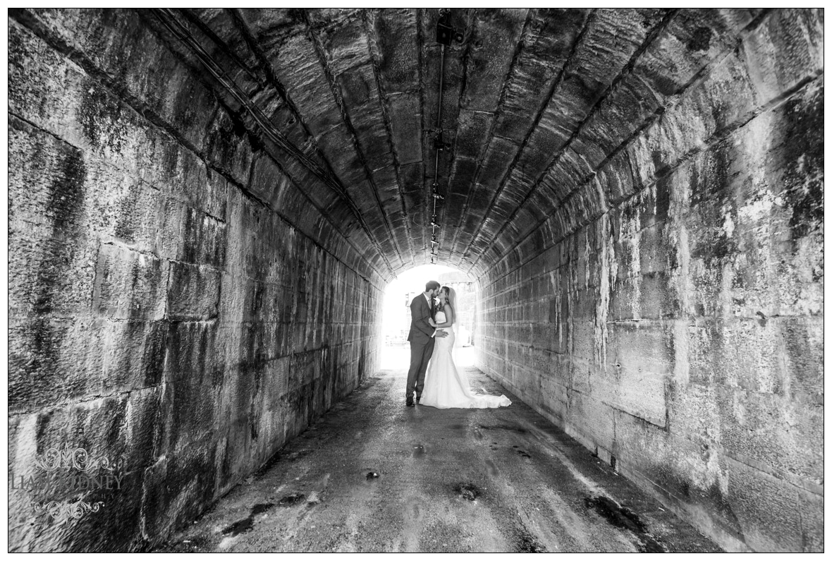 "Sarah and Torin in their ""Tunnel of Love!"""