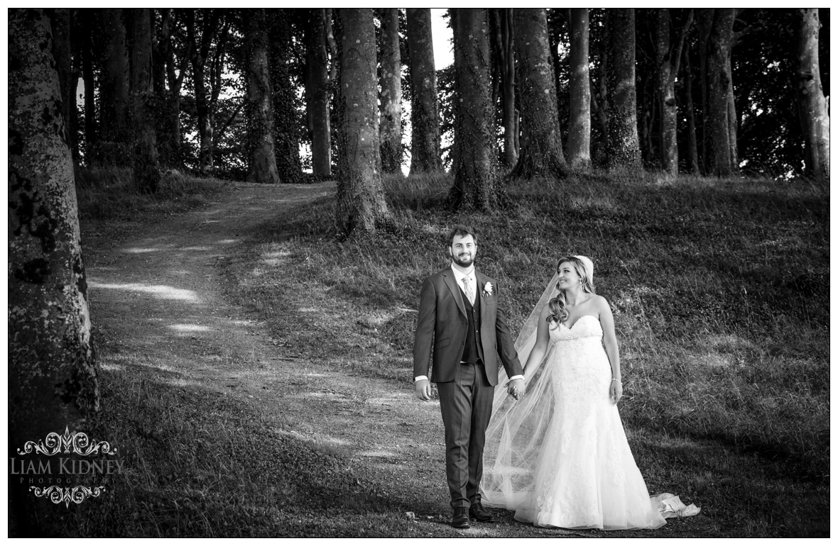 Sarah And Torin enjoying their walk in Glasson Country House Hotel Wedding