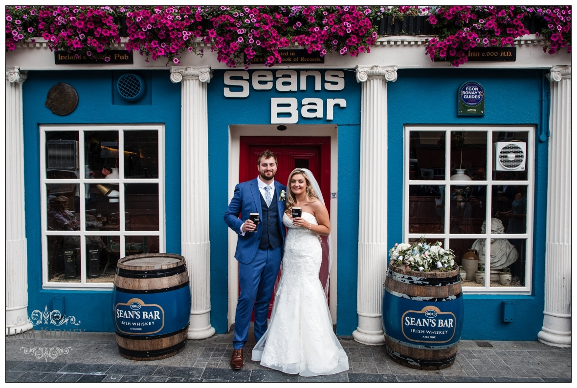 Sarah And Torin having a drink in Sean's Bar in Athlone