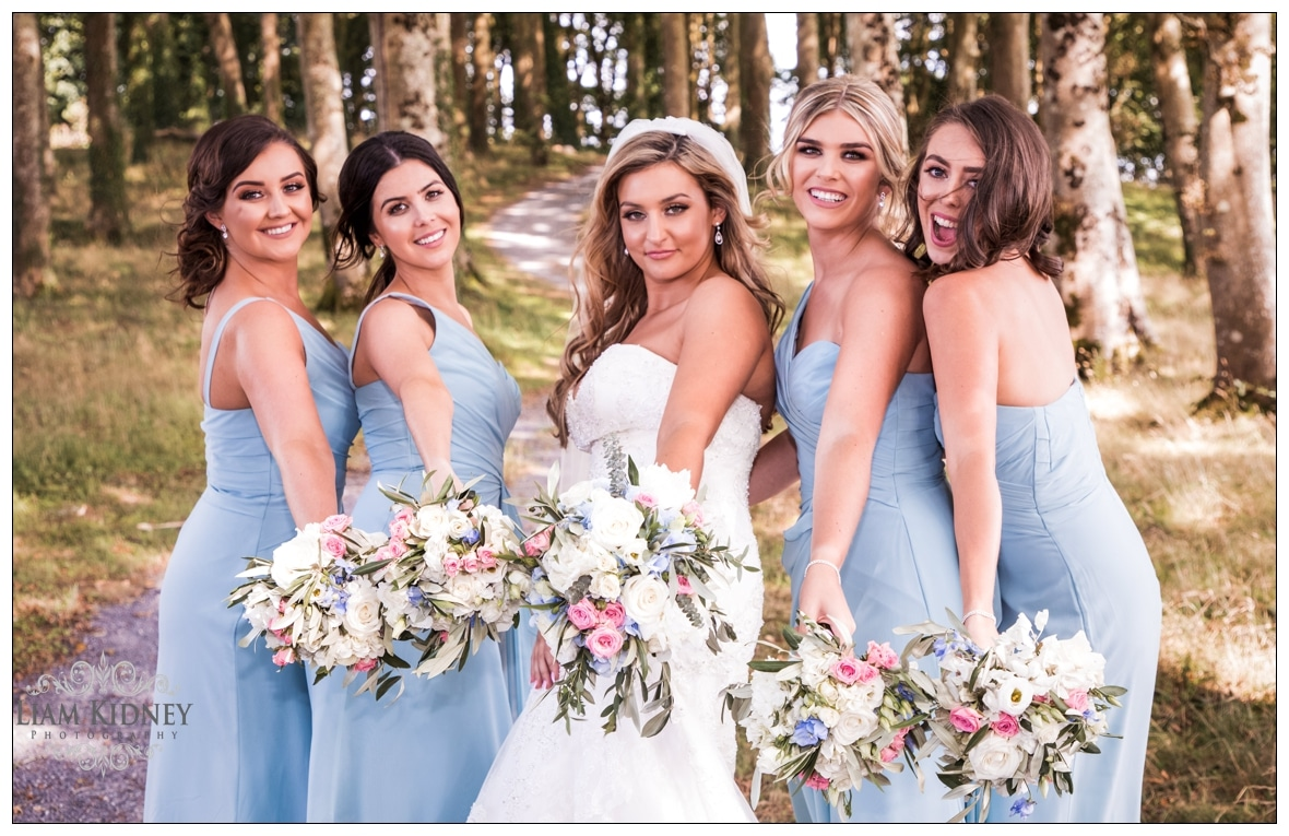 Stunning Bridal party at their Glasson Wedding in Westmeath