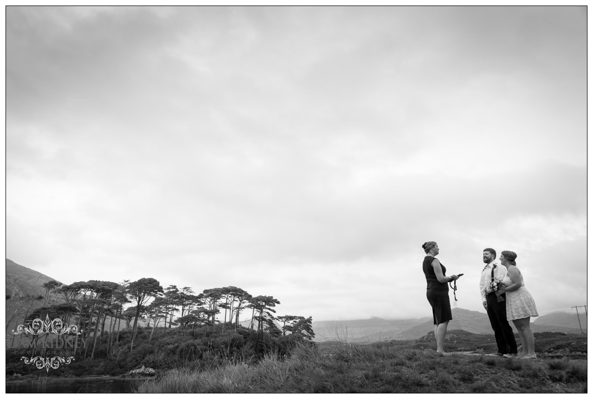 The Roving Rev was the Wedding Celebrant for the Destination Wedding in Connemara, Co. Galway