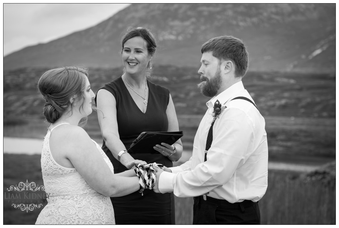 The Roving Rev was the Wedding Celebrant for the Destination Wedding in Derryclare, Connemara, Co. Galway