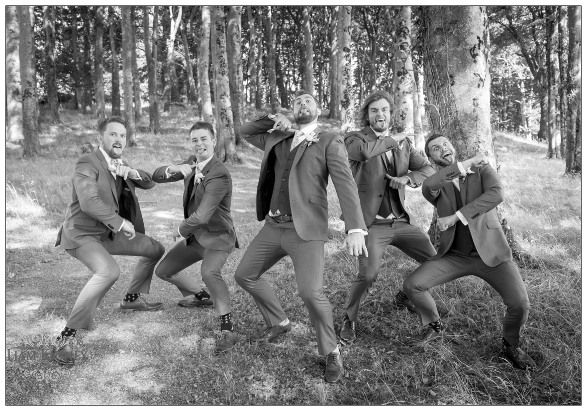 A Wedding day Haka in Westmeath Wedding