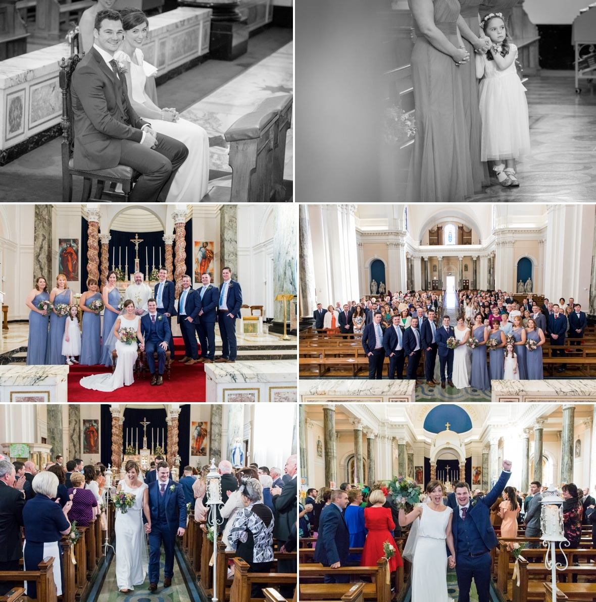 Wedding of Aisling and Eoin in St Peter and Paul's Church in Athlone